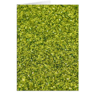 GREEN (faux) GLITTER Card