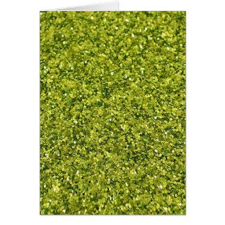 GREEN (faux) GLITTER Card