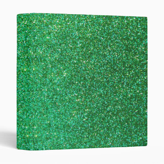 Green faux glitter graphic 3 ring binder