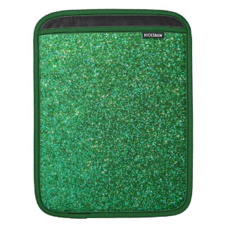 Green faux glitter graphic iPad sleeve