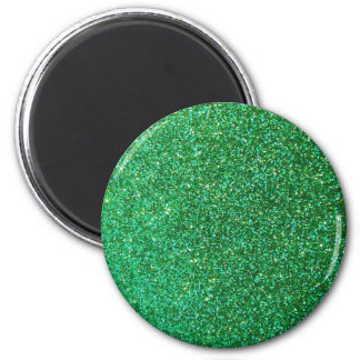 Green faux glitter graphic refrigerator magnet