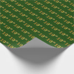 Hand shaped Green, Faux Gold 10th (Tenth) Event   Custom Names Wrapping Paper