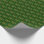 [ Thumbnail: Green, Faux Gold 11th (Eleventh) Event Wrapping Paper ]