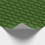 [ Thumbnail: Green, Faux Gold 12th (Twelfth) Event Wrapping Paper ]