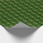 [ Thumbnail: Green, Faux Gold 13th (Thirteenth) Event Wrapping Paper ]