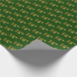 [ Thumbnail: Green, Faux Gold 16th (Sixteenth) Event Wrapping Paper ]