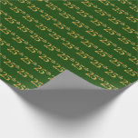 [ Thumbnail: Green, Faux Gold 25th (Twenty-Fifth) Event Wrapping Paper ]