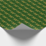 [ Thumbnail: Green, Faux Gold 30th (Thirtieth) Event Wrapping Paper ]