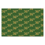 [ Thumbnail: Green, Faux Gold 36th (Thirty-Sixth) Event Tissue Paper ]