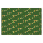 [ Thumbnail: Green, Faux Gold 37th (Thirty-Seventh) Event Tissue Paper ]