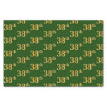 [ Thumbnail: Green, Faux Gold 38th (Thirty-Eighth) Event Tissue Paper ]