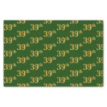 [ Thumbnail: Green, Faux Gold 39th (Thirty-Ninth) Event Tissue Paper ]