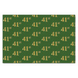 [ Thumbnail: Green, Faux Gold 41st (Forty-First) Event Tissue Paper ]