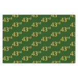 [ Thumbnail: Green, Faux Gold 43rd (Forty-Third) Event Tissue Paper ]
