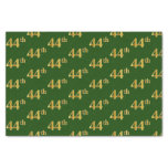 [ Thumbnail: Green, Faux Gold 44th (Forty-Fourth) Event Tissue Paper ]