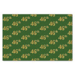 [ Thumbnail: Green, Faux Gold 46th (Forty-Sixth) Event Tissue Paper ]