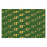 [ Thumbnail: Green, Faux Gold 48th (Forty-Eighth) Event Tissue Paper ]
