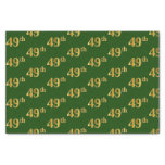 [ Thumbnail: Green, Faux Gold 49th (Forty-Ninth) Event Tissue Paper ]