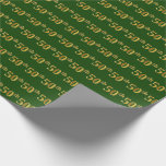 [ Thumbnail: Green, Faux Gold 50th (Fiftieth) Event Wrapping Paper ]