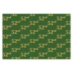 [ Thumbnail: Green, Faux Gold 52nd (Fifty-Second) Event Tissue Paper ]