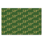 [ Thumbnail: Green, Faux Gold 53rd (Fifty-Third) Event Tissue Paper ]