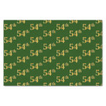 [ Thumbnail: Green, Faux Gold 54th (Fifty-Fourth) Event Tissue Paper ]