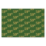 [ Thumbnail: Green, Faux Gold 59th (Fifty-Ninth) Event Tissue Paper ]