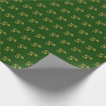 Hand shaped Green, Faux Gold 5th (Fifth) Event   Custom Names Wrapping Paper