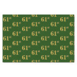 [ Thumbnail: Green, Faux Gold 61st (Sixty-First) Event Tissue Paper ]