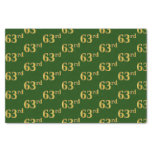 [ Thumbnail: Green, Faux Gold 63rd (Sixty-Third) Event Tissue Paper ]