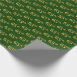 [ Thumbnail: Green, Faux Gold 65th (Sixty-Fifth) Event Wrapping Paper ]