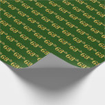 [ Thumbnail: Green, Faux Gold 68th (Sixty-Eighth) Event Wrapping Paper ]