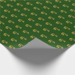 Hand shaped Green, Faux Gold 6th (Sixth) Event   Custom Names Wrapping Paper