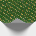 [ Thumbnail: Green, Faux Gold 72nd (Seventy-Second) Event Wrapping Paper ]