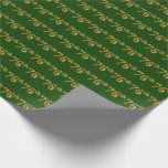 [ Thumbnail: Green, Faux Gold 76th (Seventy-Sixth) Event Wrapping Paper ]