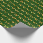 [ Thumbnail: Green, Faux Gold 80th (Eightieth) Event Wrapping Paper ]