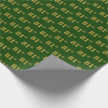 [ Thumbnail: Green, Faux Gold 81st (Eighty-First) Event Wrapping Paper ]