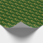 [ Thumbnail: Green, Faux Gold 82nd (Eighty-Second) Event Wrapping Paper ]