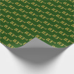 [ Thumbnail: Green, Faux Gold 83rd (Eighty-Third) Event Wrapping Paper ]