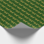 [ Thumbnail: Green, Faux Gold 84th (Eighty-Fourth) Event Wrapping Paper ]