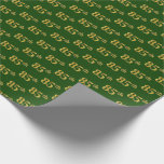 [ Thumbnail: Green, Faux Gold 85th (Eighty-Fifth) Event Wrapping Paper ]