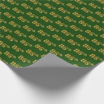 [ Thumbnail: Green, Faux Gold 86th (Eighty-Sixth) Event Wrapping Paper ]