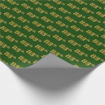 [ Thumbnail: Green, Faux Gold 88th (Eighty-Eighth) Event Wrapping Paper ]