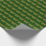 [ Thumbnail: Green, Faux Gold 89th (Eighty-Ninth) Event Wrapping Paper ]