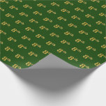 Hand shaped Green, Faux Gold 8th (Eighth) Event   Custom Names Wrapping Paper