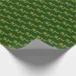 [ Thumbnail: Green, Faux Gold 92nd (Ninety-Second) Event Wrapping Paper ]