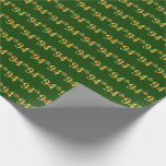 [ Thumbnail: Green, Faux Gold 94th (Ninety-Fourth) Event Wrapping Paper ]