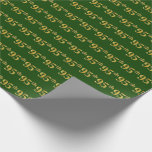 [ Thumbnail: Green, Faux Gold 95th (Ninety-Fifth) Event Wrapping Paper ]