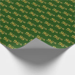 [ Thumbnail: Green, Faux Gold 96th (Ninety-Sixth) Event Wrapping Paper ]