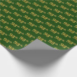 [ Thumbnail: Green, Faux Gold 98th (Ninety-Eighth) Event Wrapping Paper ]